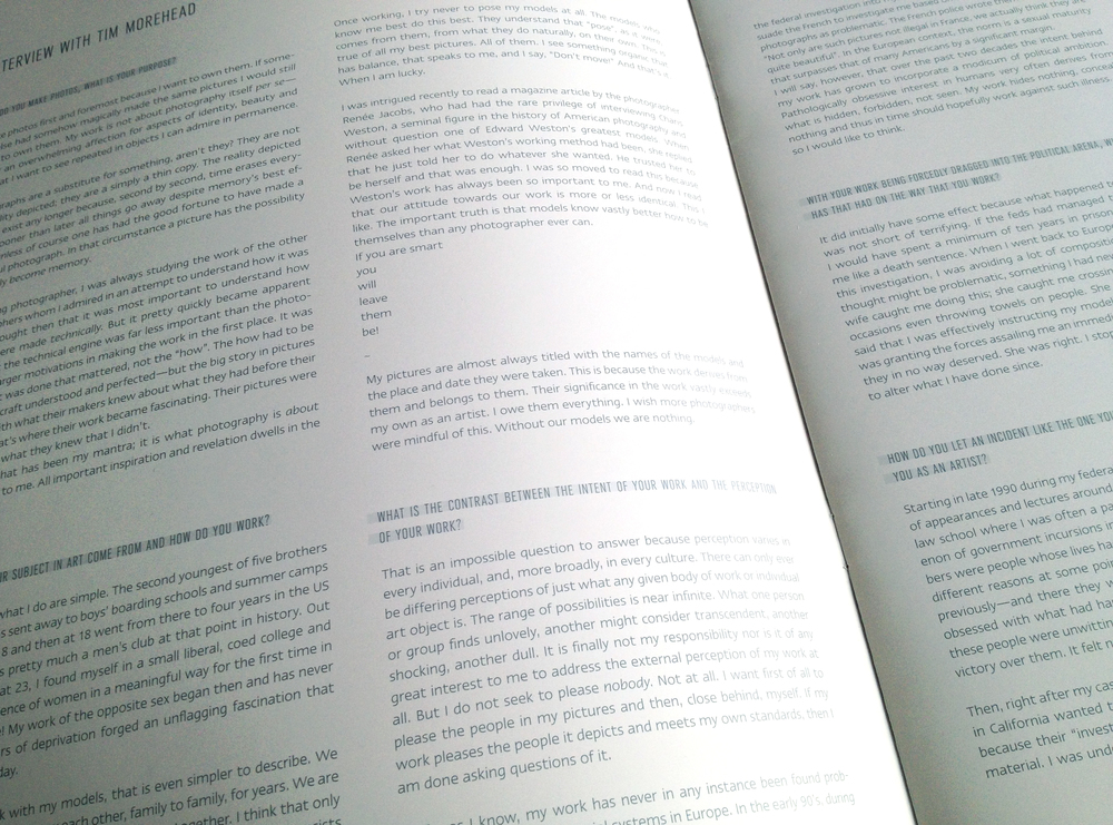 Typografische Gestaltung des Booklets zum Buch