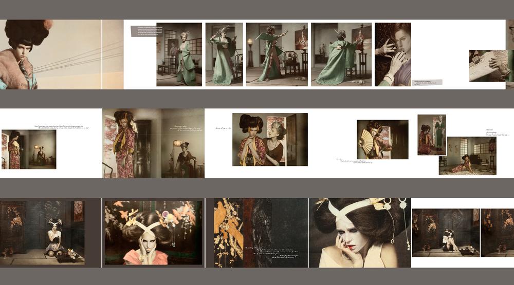 Ausschnitt der Bildabfolge auf den Leporellos