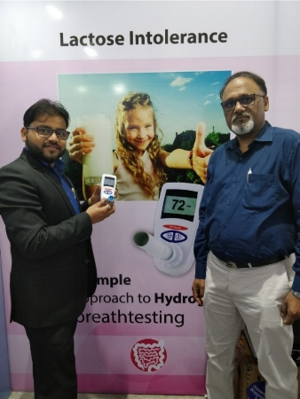 Mr Mohit Kumar - Operations Manager (left) with Mr Raju Agarwal - Managing Director of WBM Health Science Pvt Ltd.
