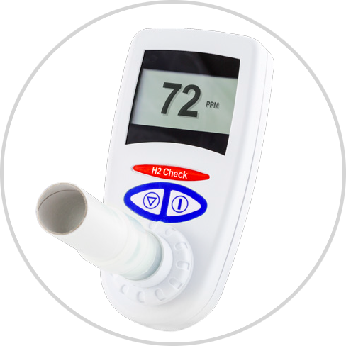 H2 Check    The H2 Check can be used on all age groups of patients. Its principle use is for the simple diagnoses of Lactose Intolerance. Using a special re-breathing technique, patients are required to simply tidal breath into the H2 Check for immediate results in PPM.  Read More