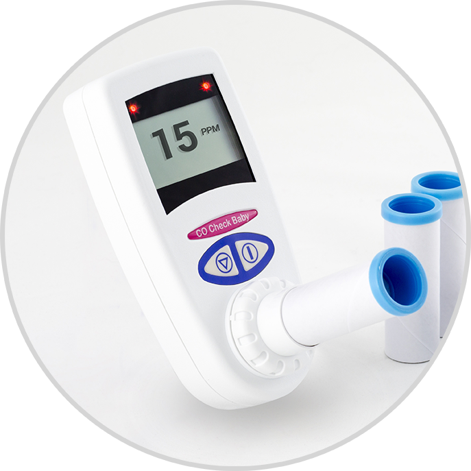 Co Check baby  The CO Check + Baby has been designed to enable all healthcare professionals to carry out quick and simple breath tests on pregnant women that smoke and need help in quitting.    Read More