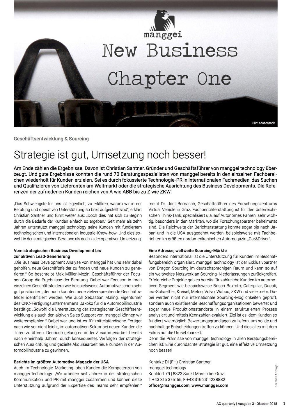 AC quaterly | Ausgabe 3 - Oktober 2018, Seite 3