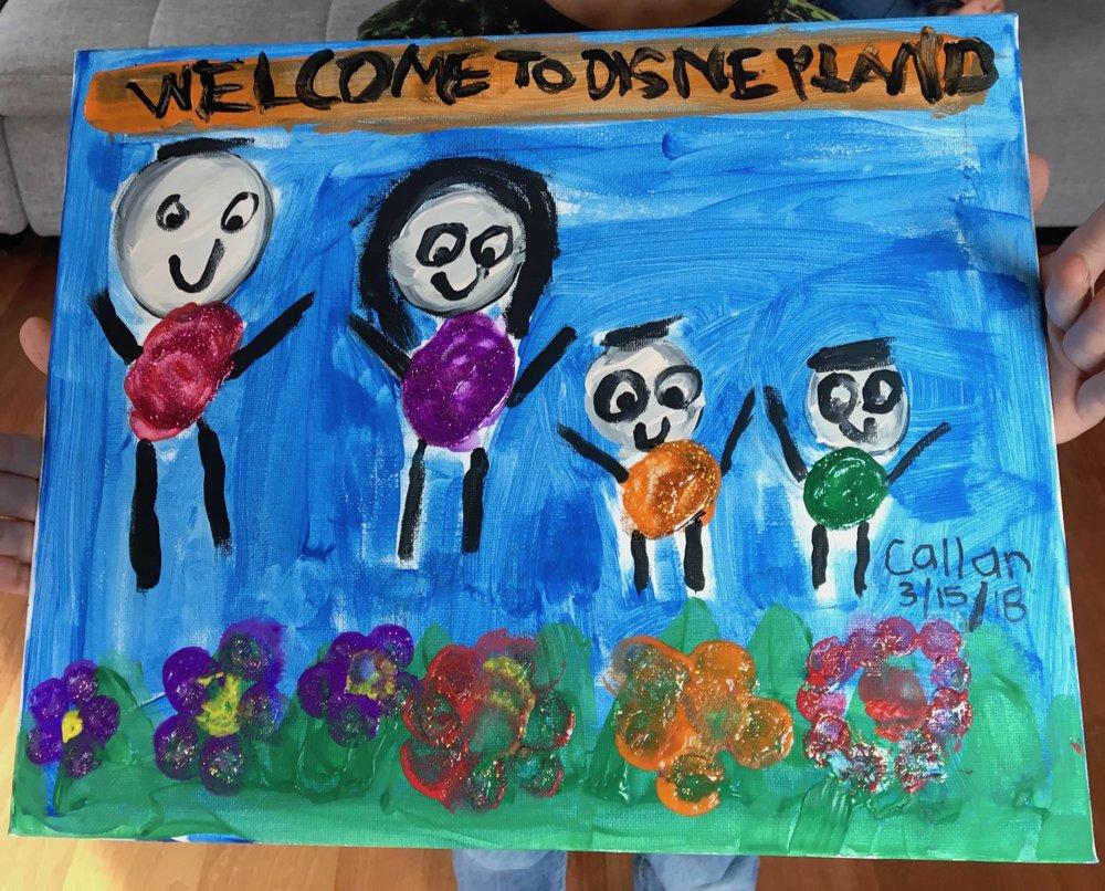 Paint & glitter glue, age 5