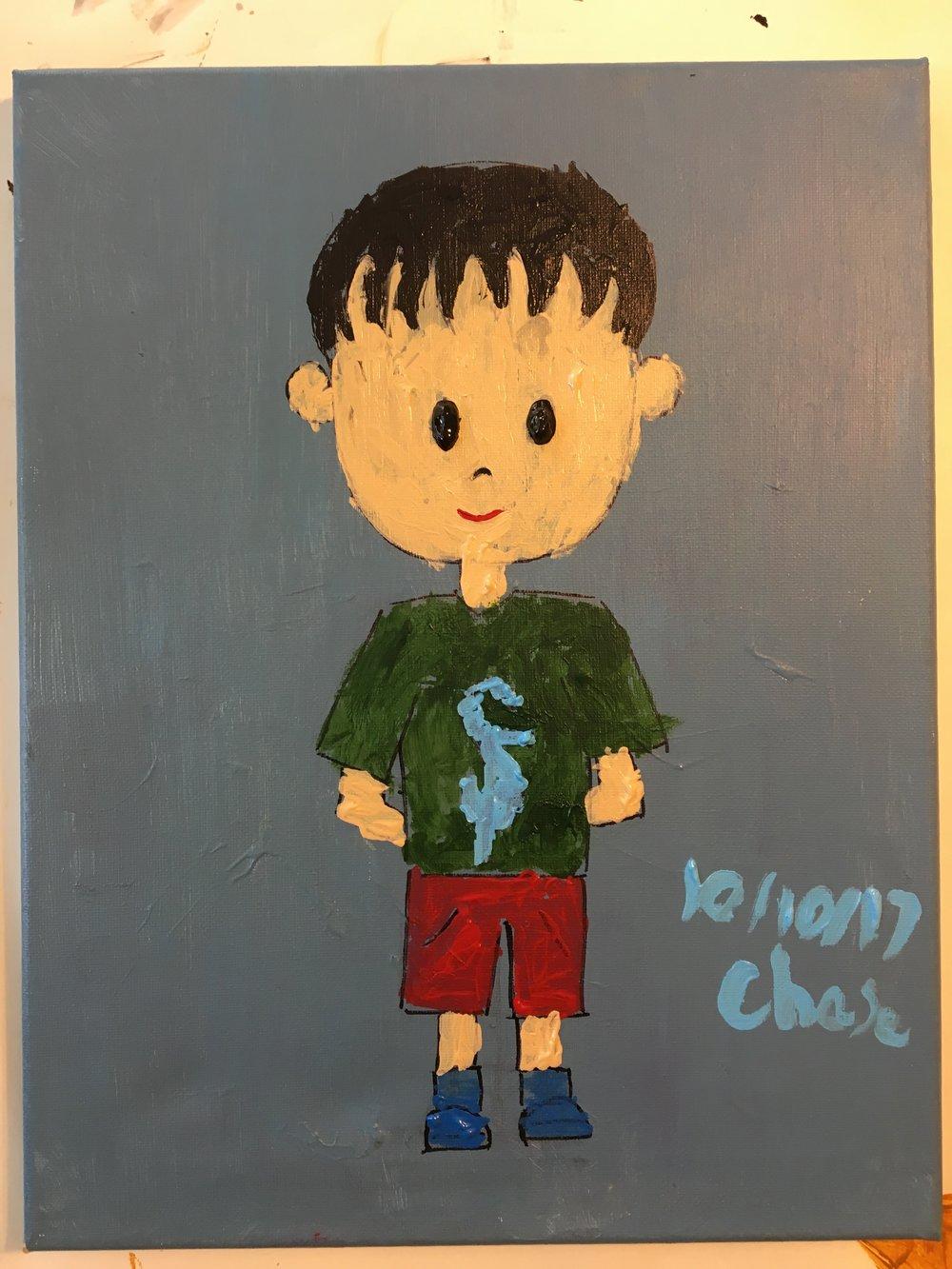 Acrylic paint, age 5