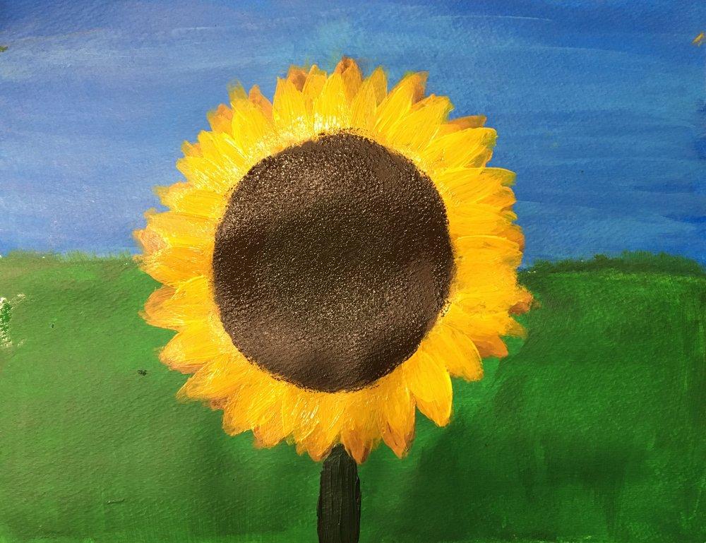 Acrylic paint, age 11