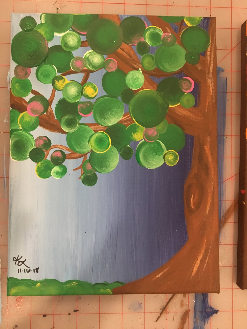 Acrylic paint, age 17