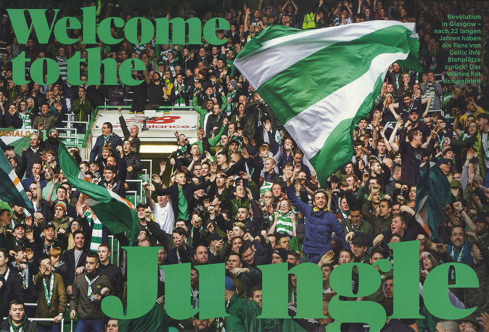 Green Brigade Ultras, Celtic Park, . Reportage for 11Freunde.
