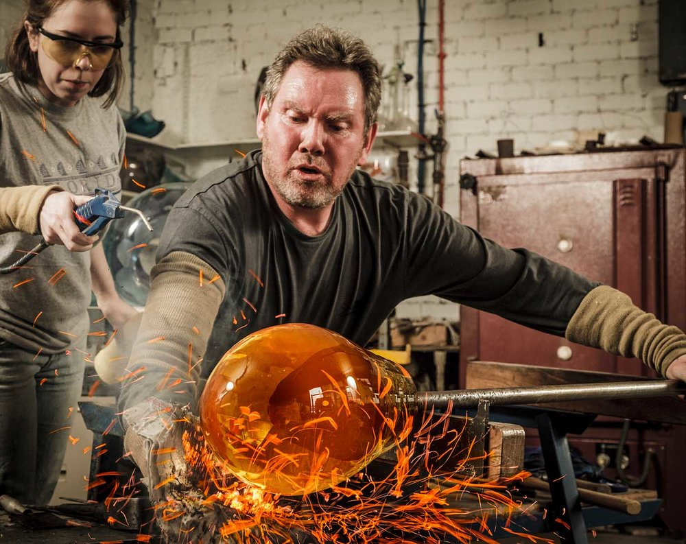 Graham Muir, glass artist . Country Life Magazine.