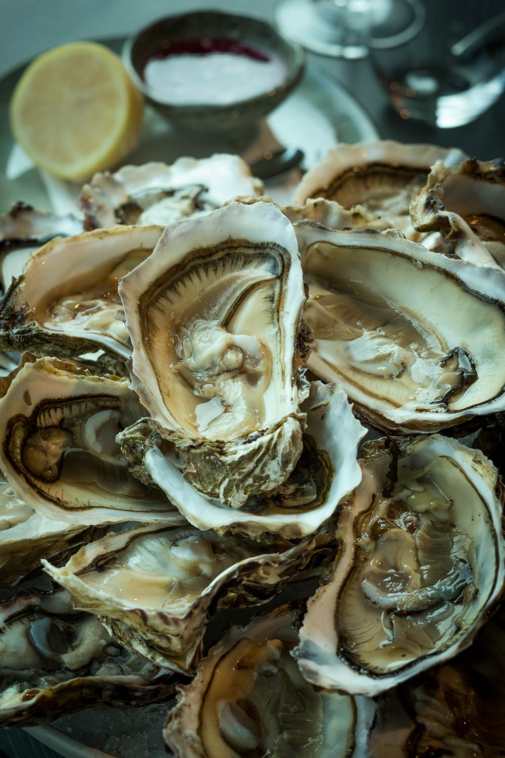 Oysters, Ondine, Edinburgh.  The Caterer magazine.