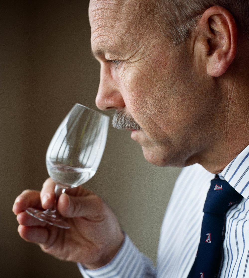 Nosing, Hendrick's Gin . Waitrose.