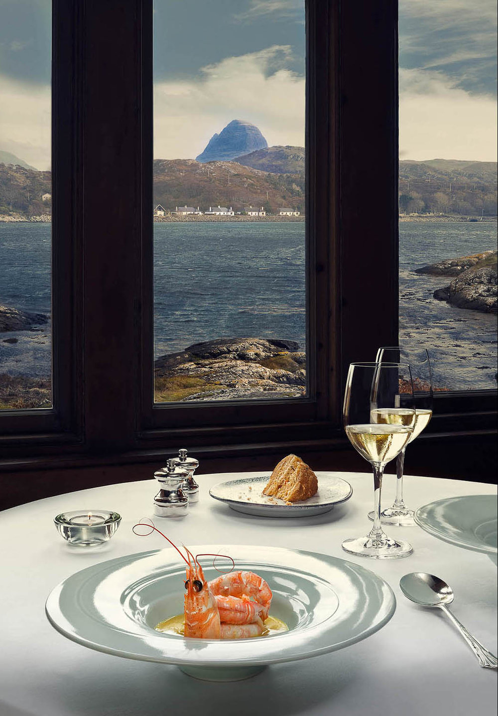 Prawns and Suilven, The Albannach, Lochinver . The Scottish Government.