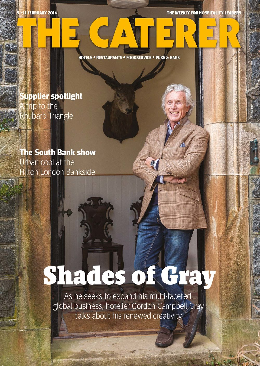 Hotelier Gordon Campbell Gray.  The Caterer magazine.