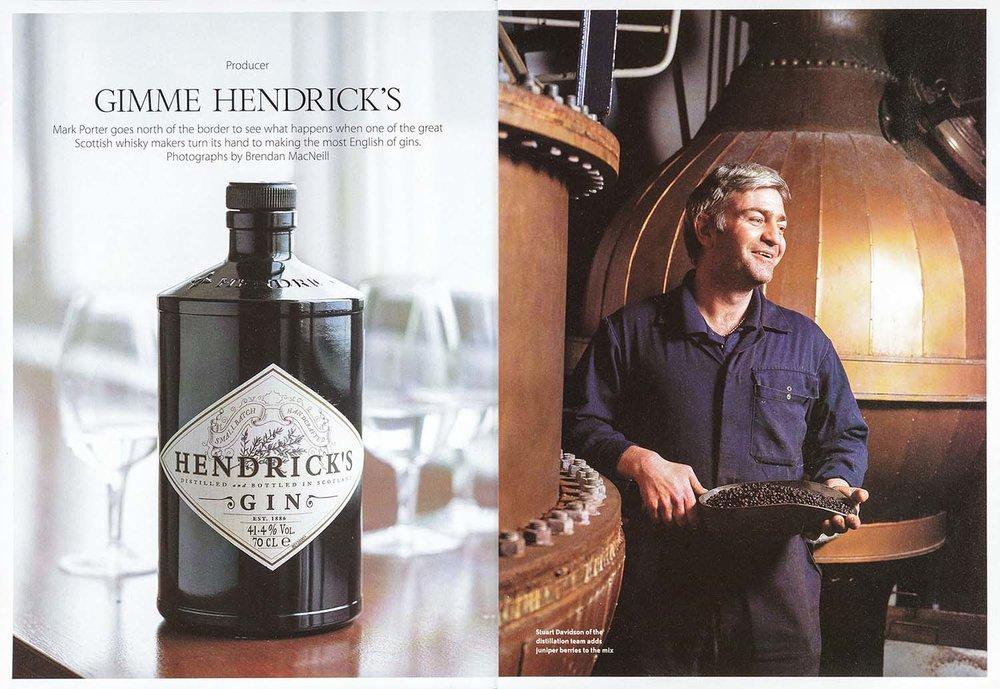 Distillery reportage, Hendrick's Gin . Waitrose.