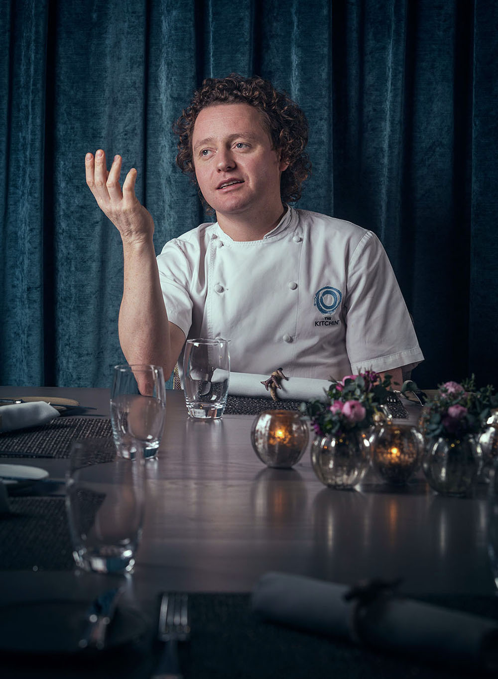 Michelin starred chef patron Tom Kitchin.  The Caterer magazine.
