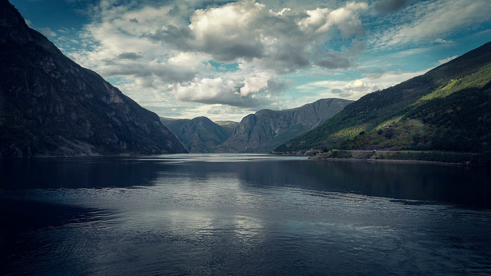 Landscape photography - Norwegian fjord.