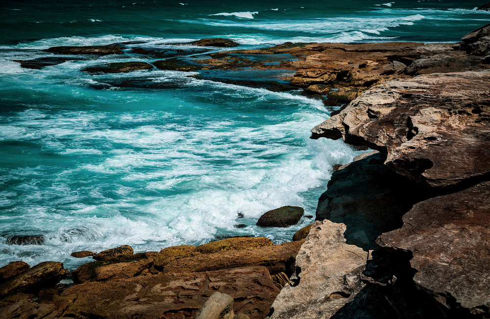 Turquoise waters.  Eastern Suburbs, Sydney, NSW, Australia.