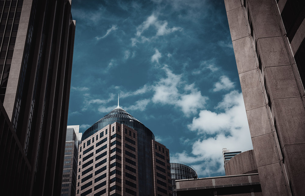Lines, curves and clouds . Circular Quay, Sydney, Australia.
