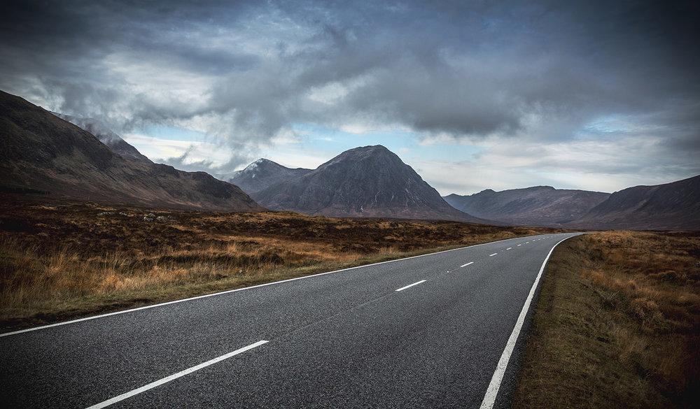 The road to Glencoe,  Highlands & Islands, Scotland.