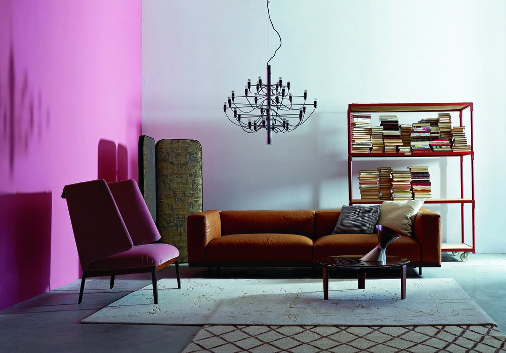Naviglio Sofa from Arflex with Hug Armchair from Arflex