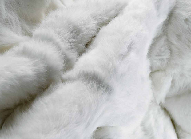 Yerra Rabbit fur throw