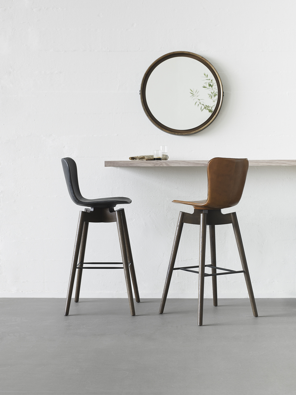 Mater Design Shell Lounge Chair and Shell Barstool from Mater Design