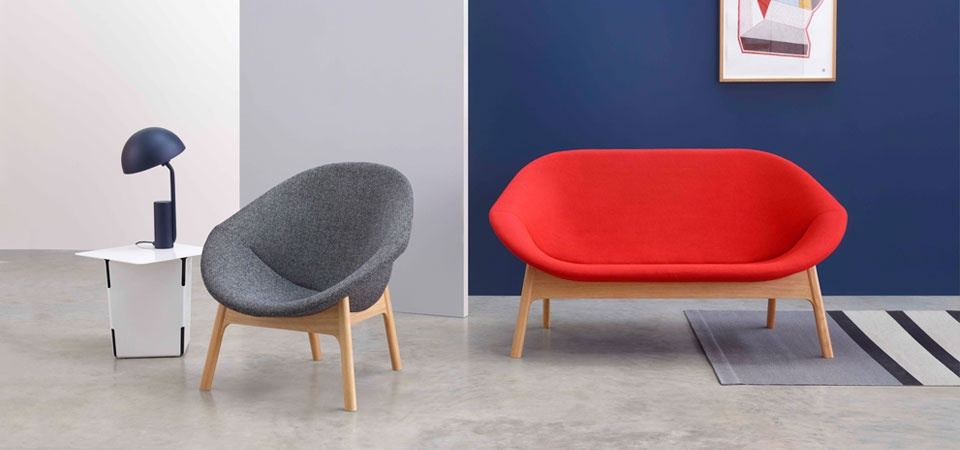 Lily Sofa and Lily Lounge chair from Modus Furniture