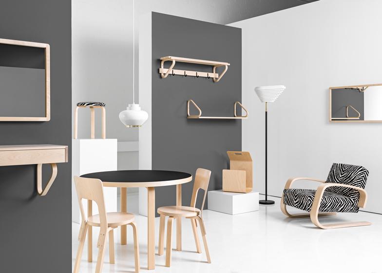 66 Chair by Alvar Aalto by Artek and 400 Tank Armchair by Alvar Aalto for Artek