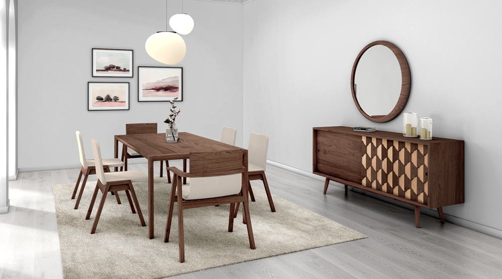 WeWood Pensil Stacking Chair and Raia Table