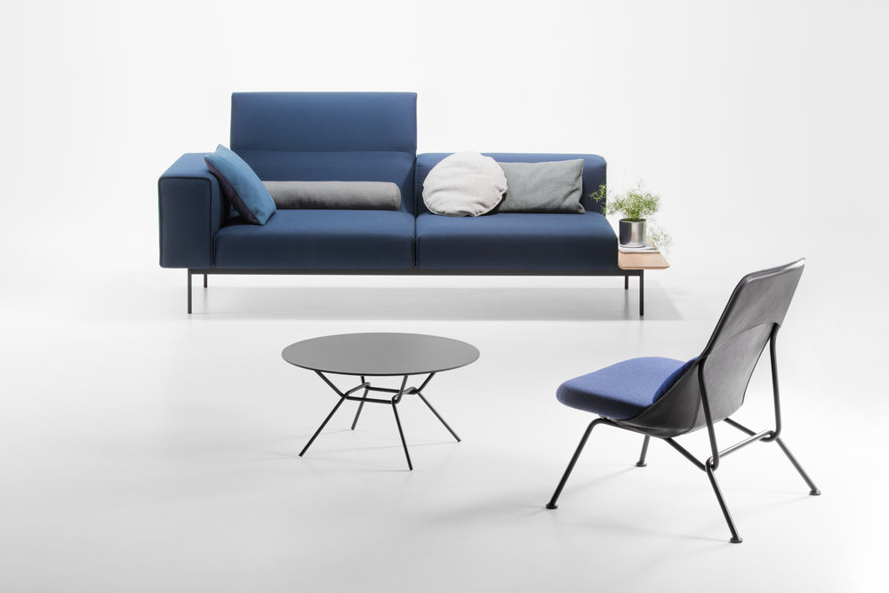 Convert Sofa from Prostoria with Strain Lounge chair