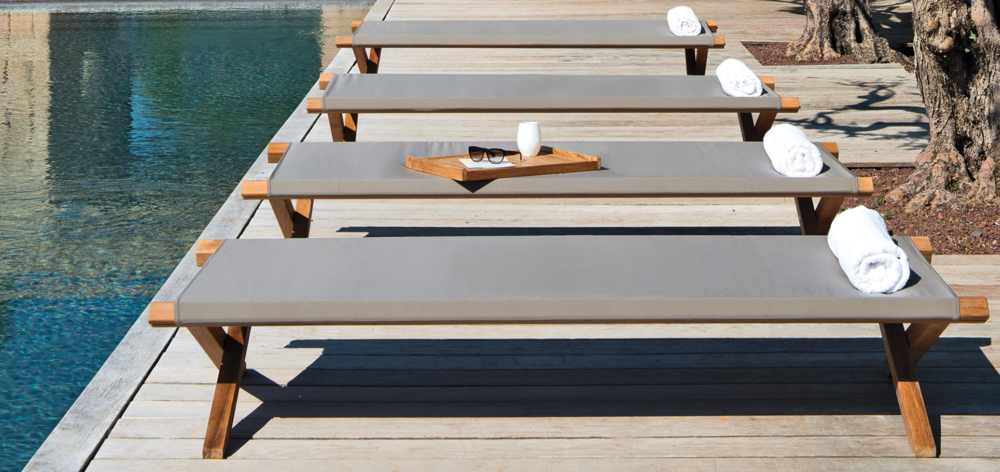 Elit sun bed sun lounger from Ethimo