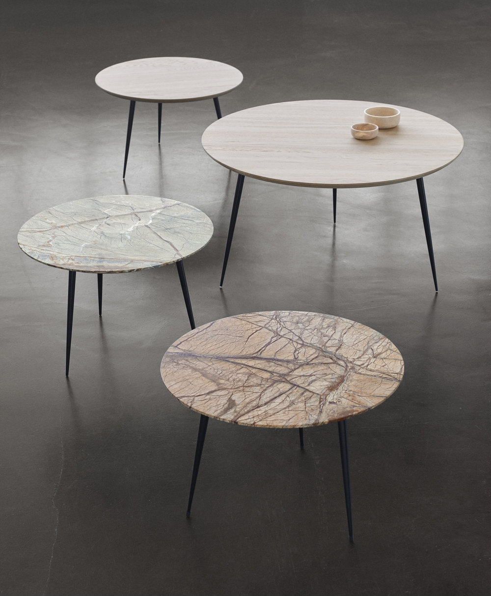 Mater Design Disc table family at Morlen Sinoway