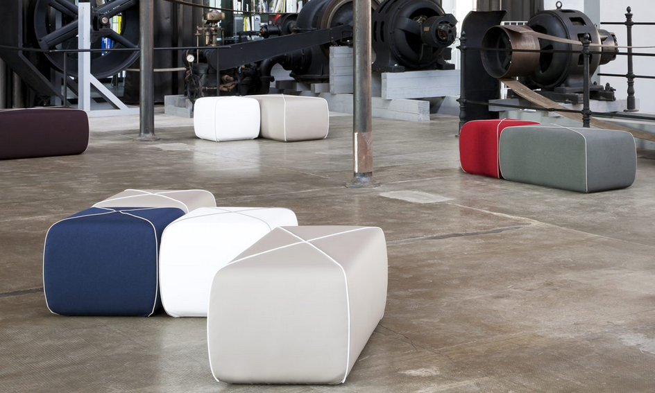 B-LINE Crossed Pouf