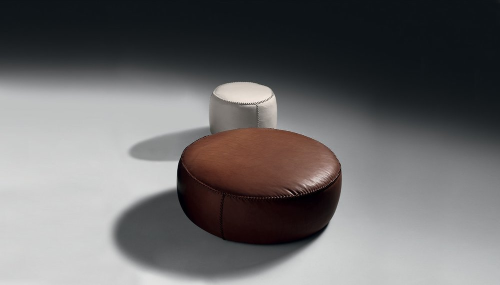 Casablanca Leather Pouf