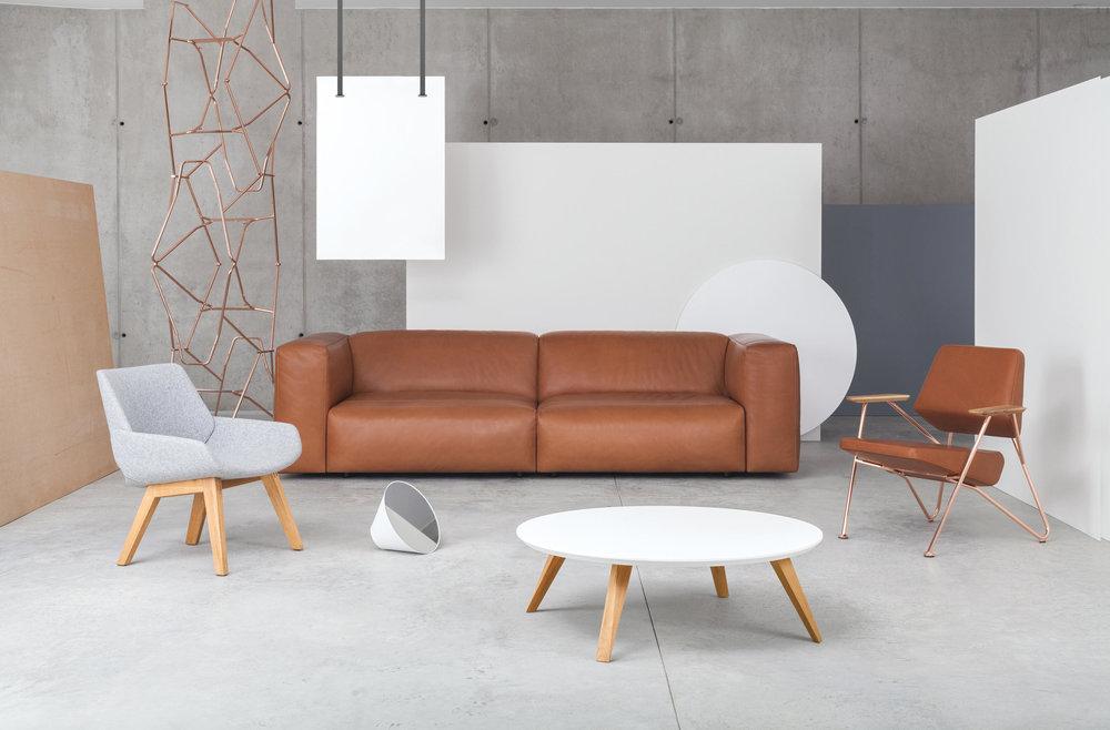Cloud Sofa and Polygon Lounge chair