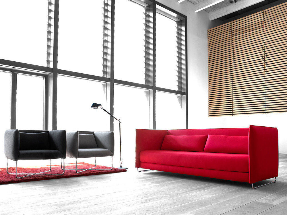 Metro Sofa and Lounge chair by Softline
