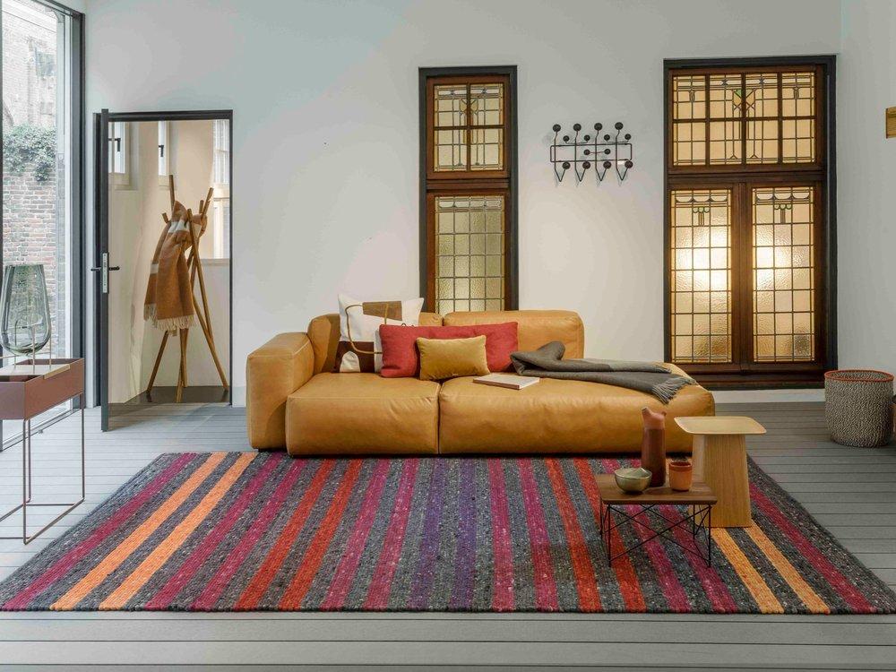 Neon Stripe custom area rug by Perletta Rugs