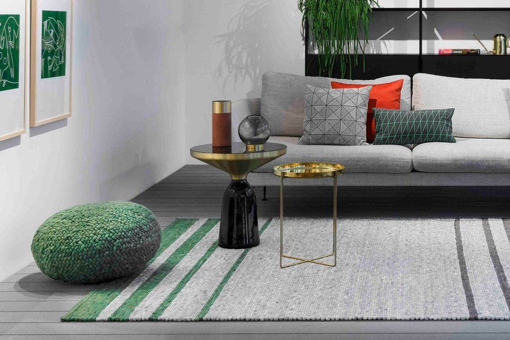 Salsa Stripe custom area rug by Perletta