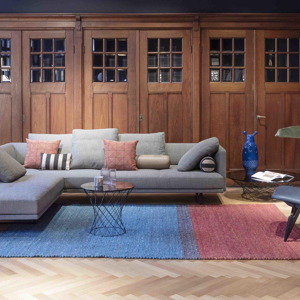 Gravel Stripe custom area rug by Perletta