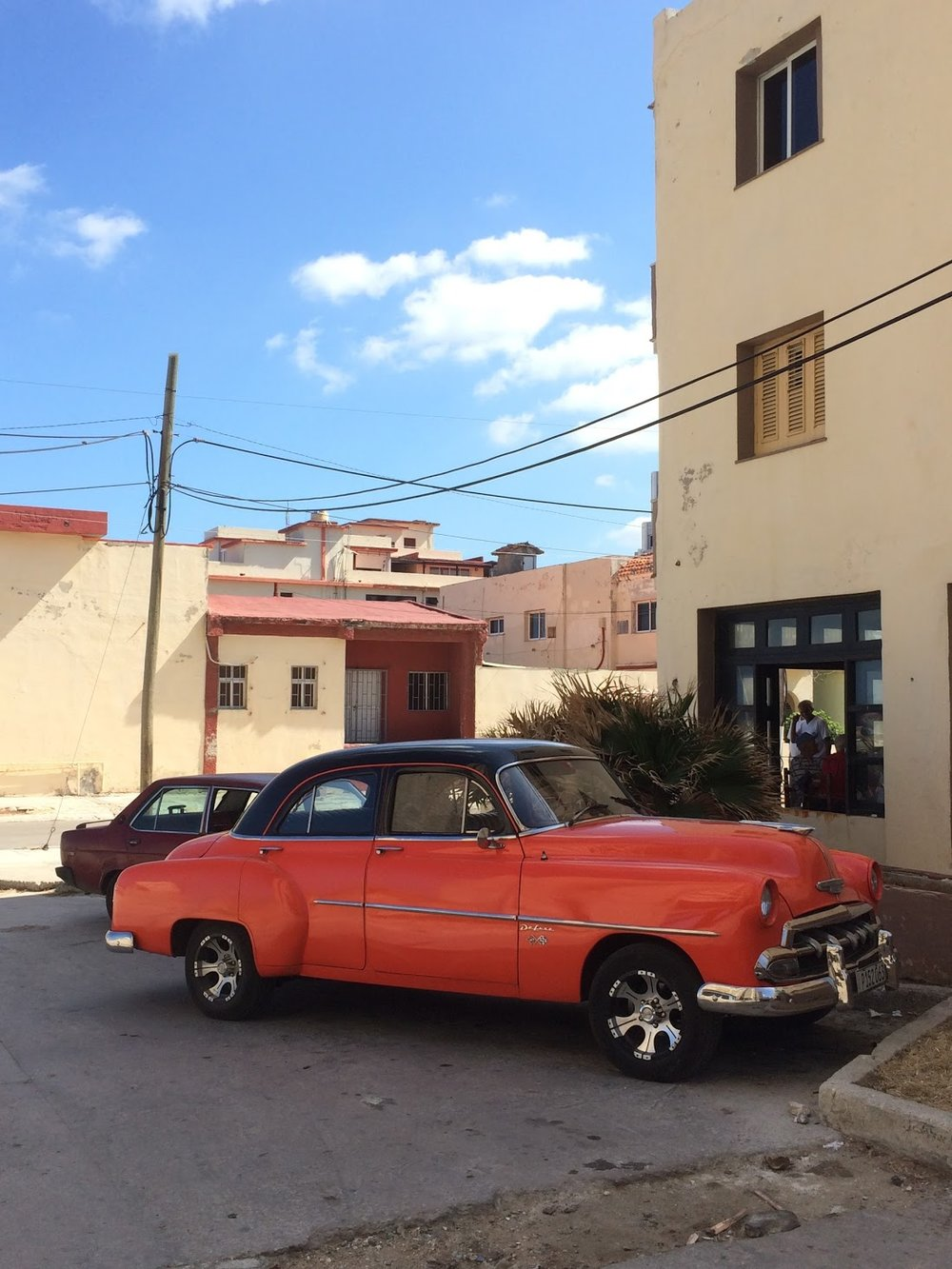 One of the many 50's American-style taxis in Cuba.