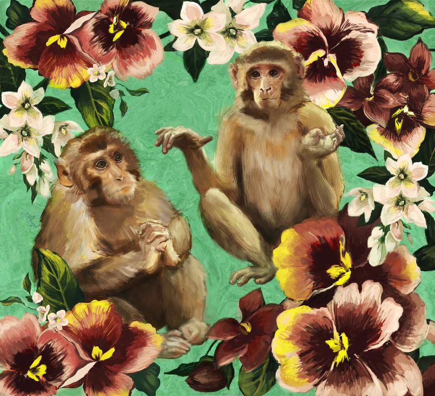 Floral Monkeys