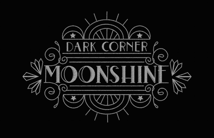 Dark Corner Moonshine Label