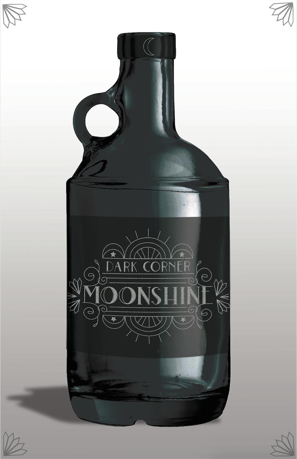 Moonshine label mockup