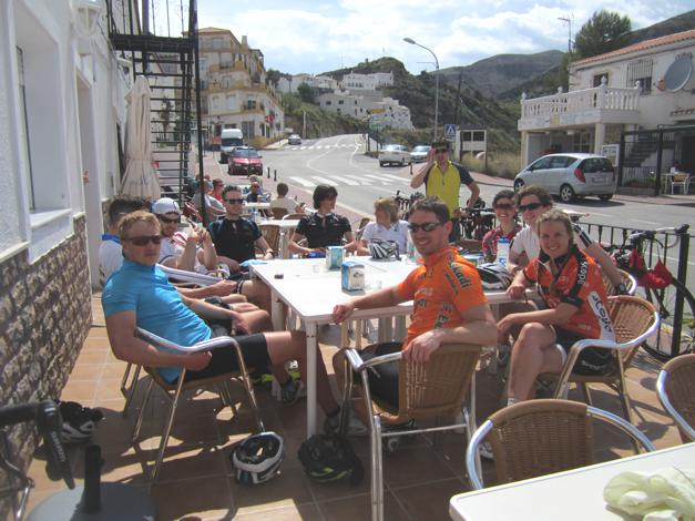 Lunch in the sun, after a big climb. Can't go wrong!