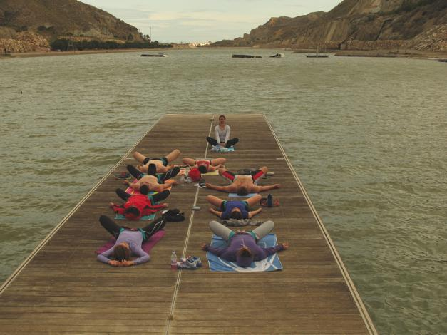 Yoga on the dock, what a way to relax body and mind!