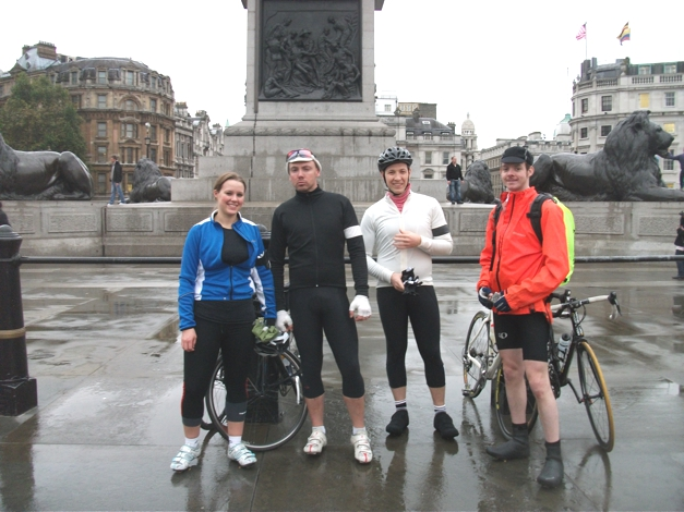Setting off from Trafalgar Square on my 1st London2Paris24 Adventure, 5th November. Had no clue what i was in for!