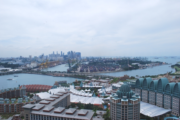 View over Singapore mainland