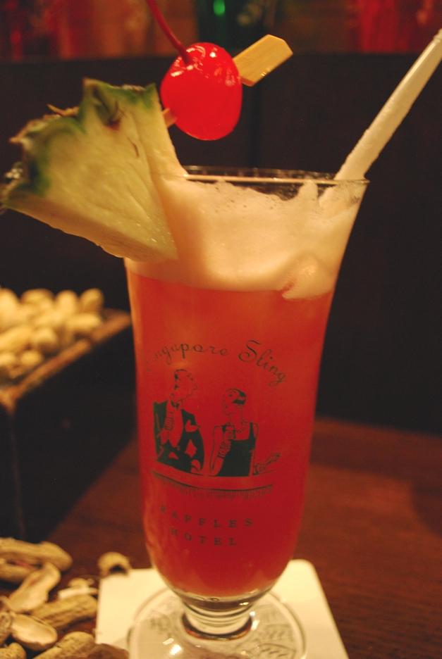 Singapore Slings, Raffles Hotel