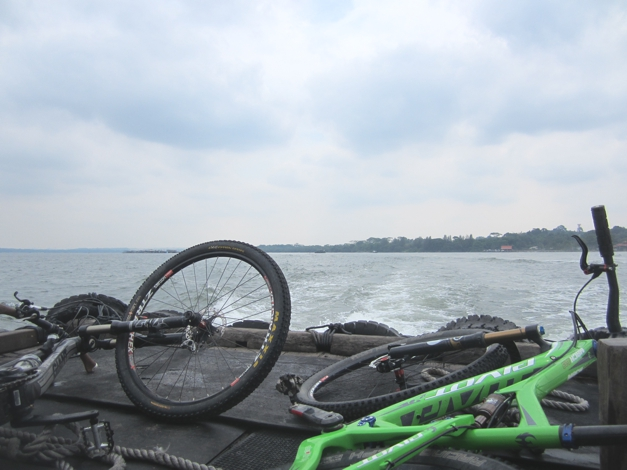 Ferry crossing - the island is only 10 mins from mainland Singapore and a stone's throw from Malaysia