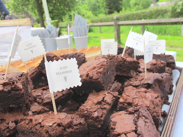 Just married brownies