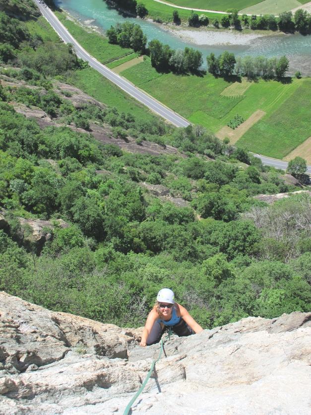 Fantastic rock climb in Machaby, Italy